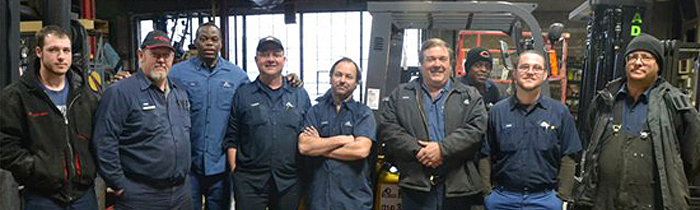 A D Lift Truck Service Department Technicians